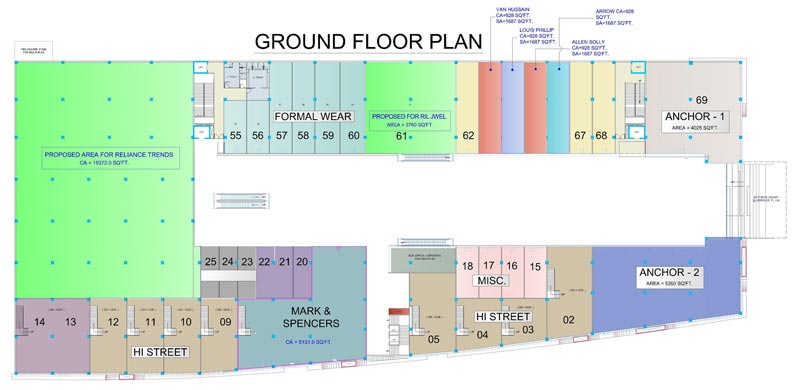RahulRaj Mall Ground Floor Plan